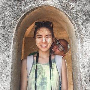 asian couple in bagan