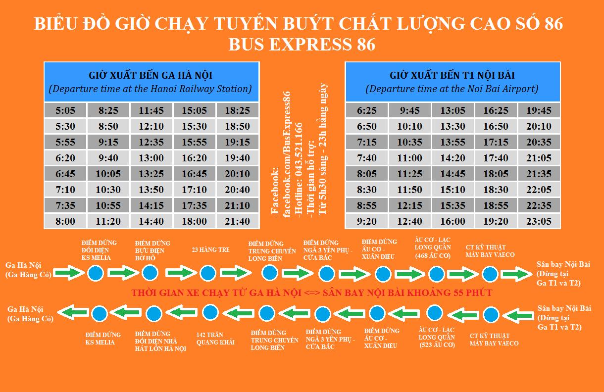 bus schedule Hanoi