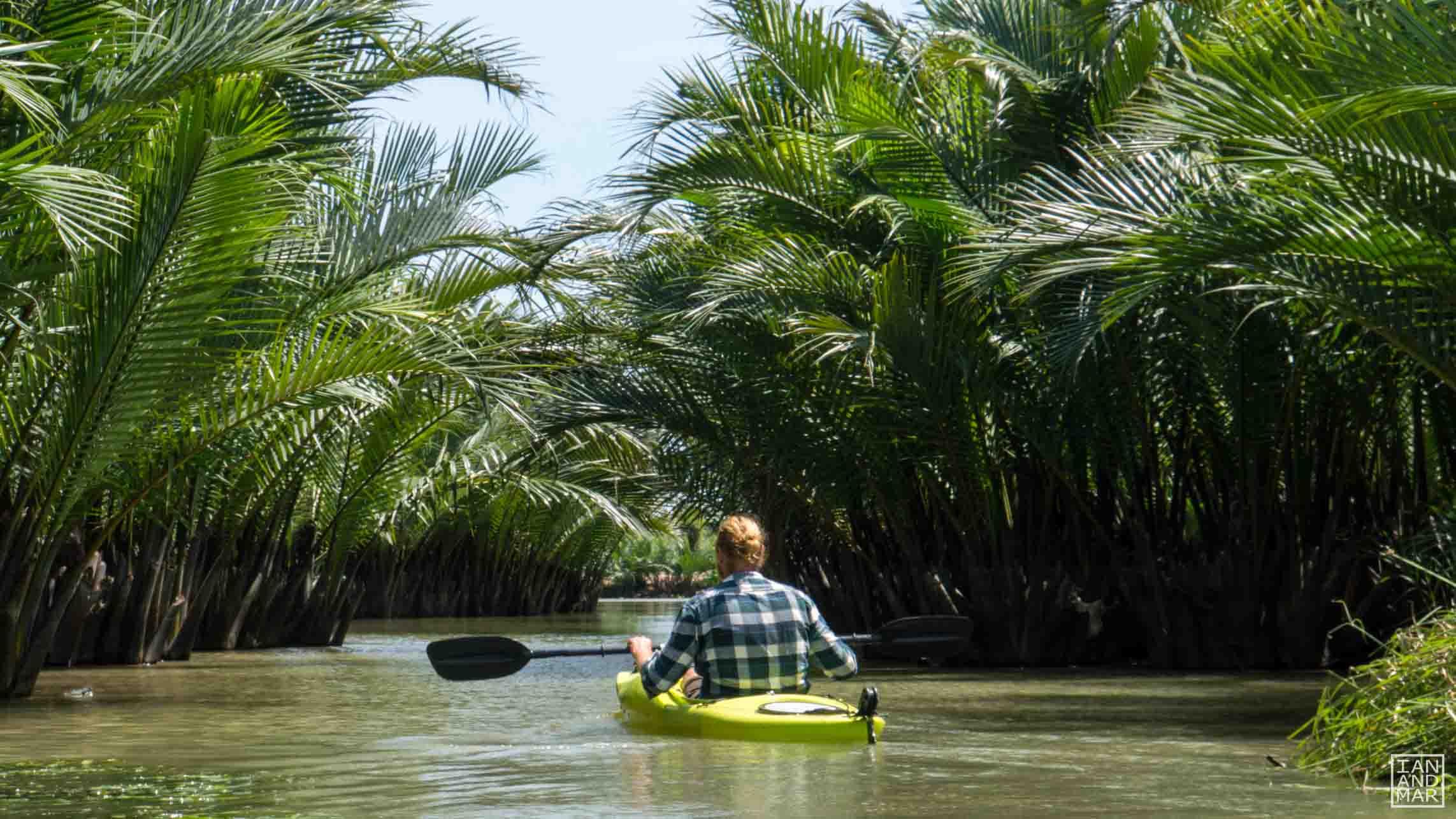 boy on a kayak