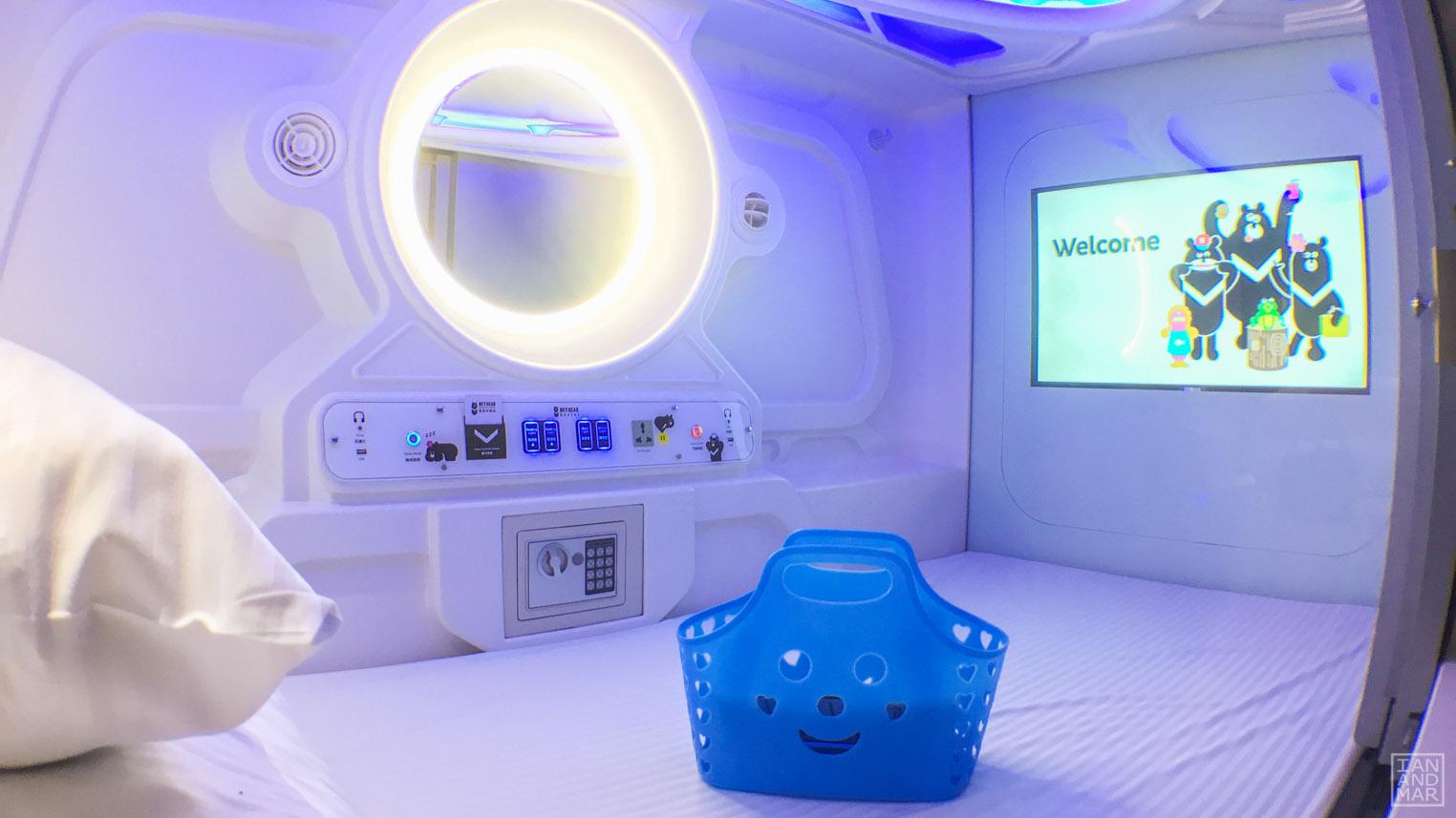 futuristic capsule bed