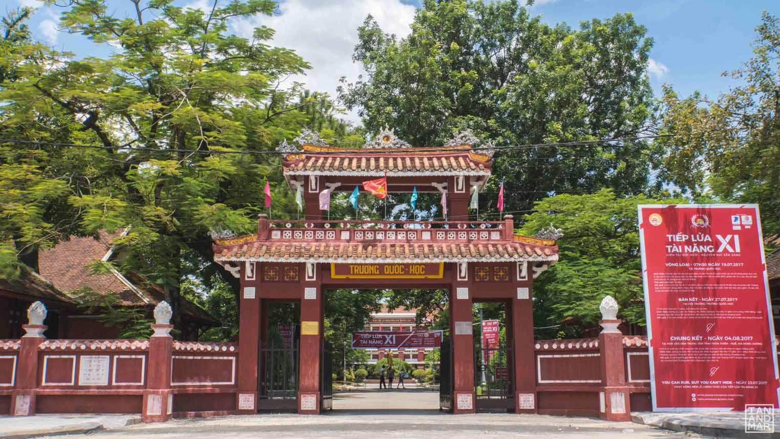 school gate in Vietnam