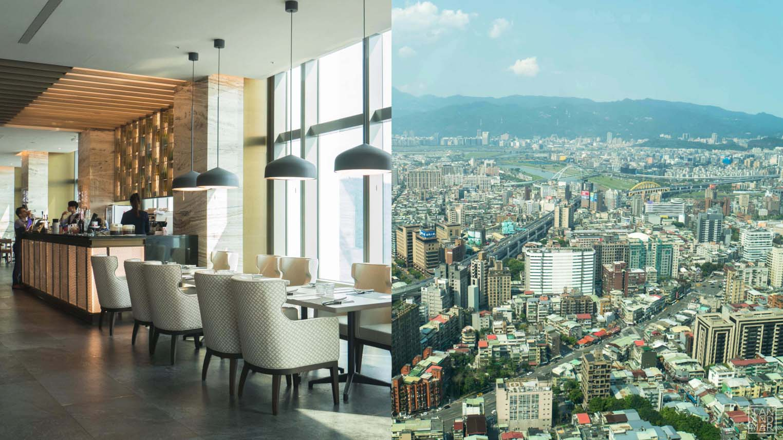 restaurant with view of taipei city