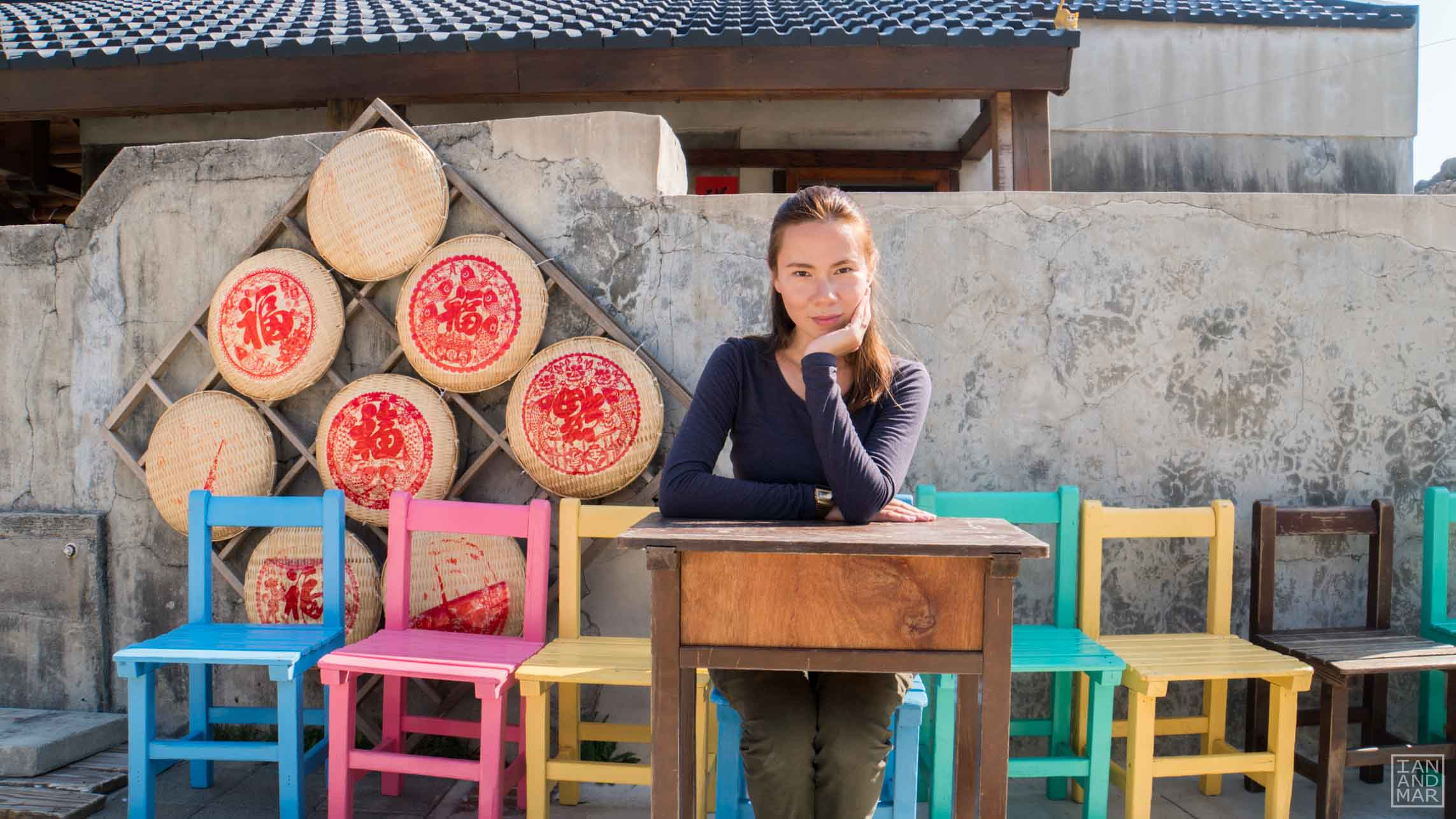 lady in an outdoor classroom