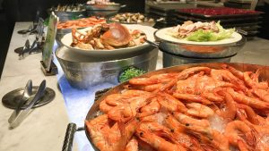 seafood in buffet