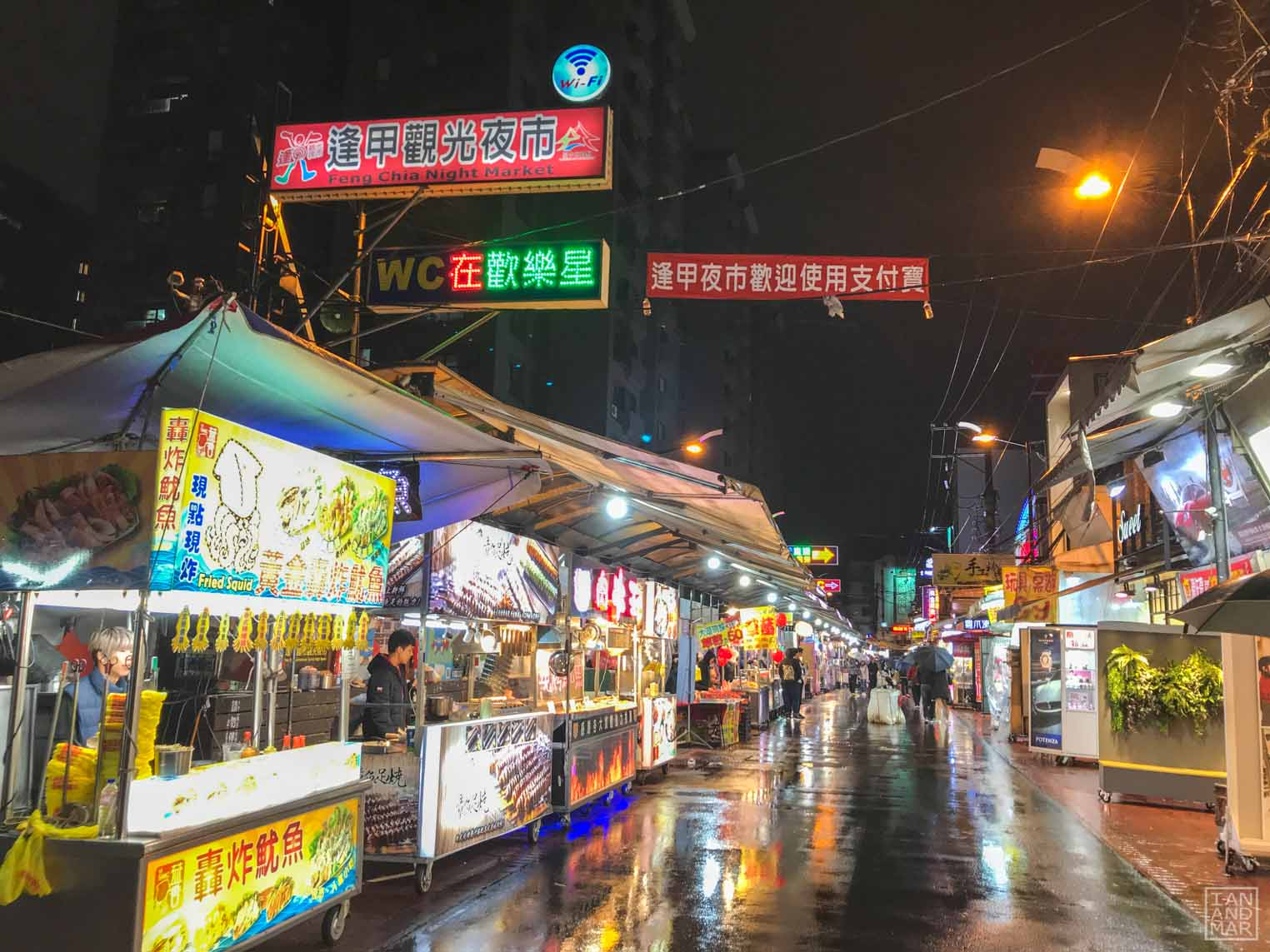 night market in asia
