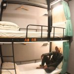hotel room with bunk bed