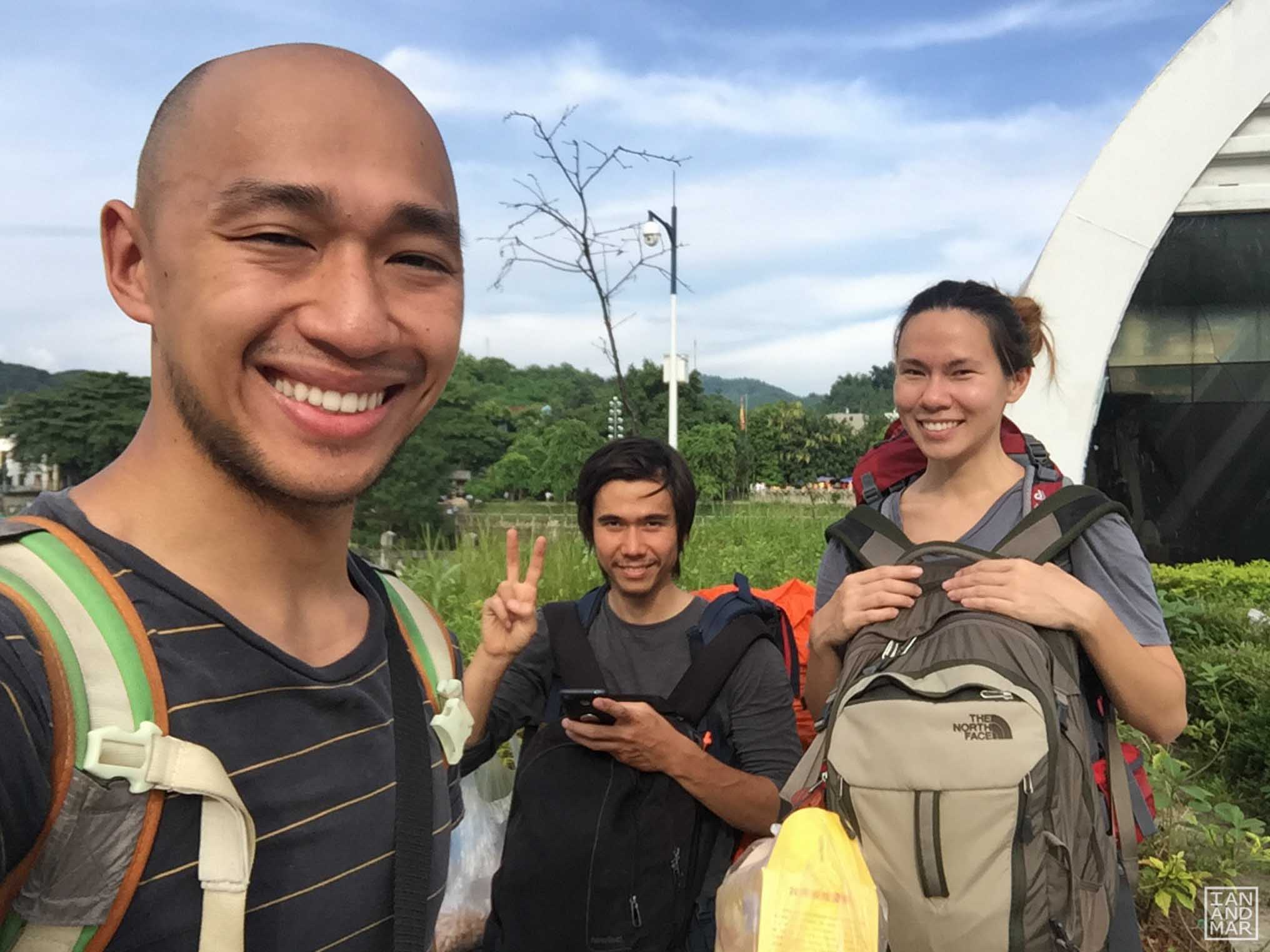 asian backpackers