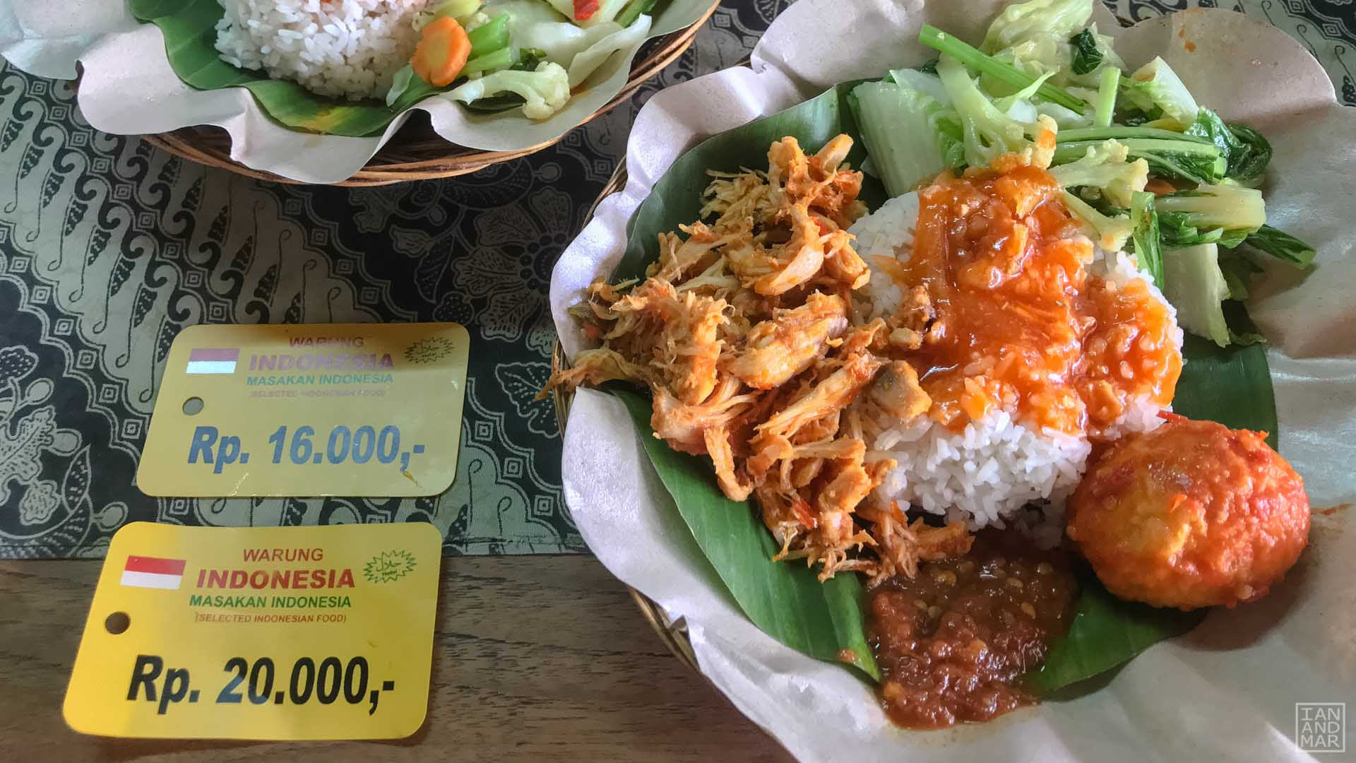 balinese food with rice