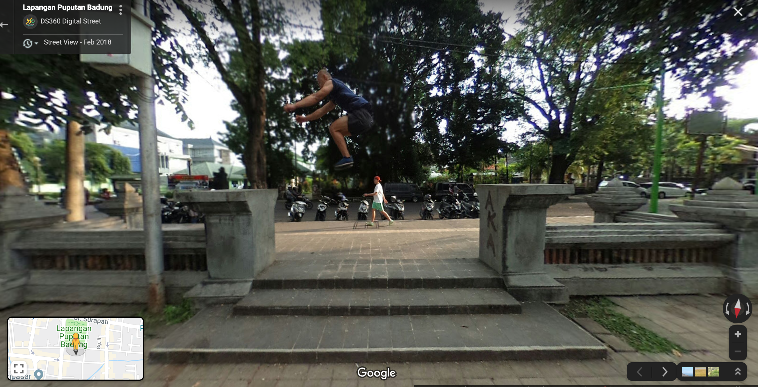 guy parkour in Bali