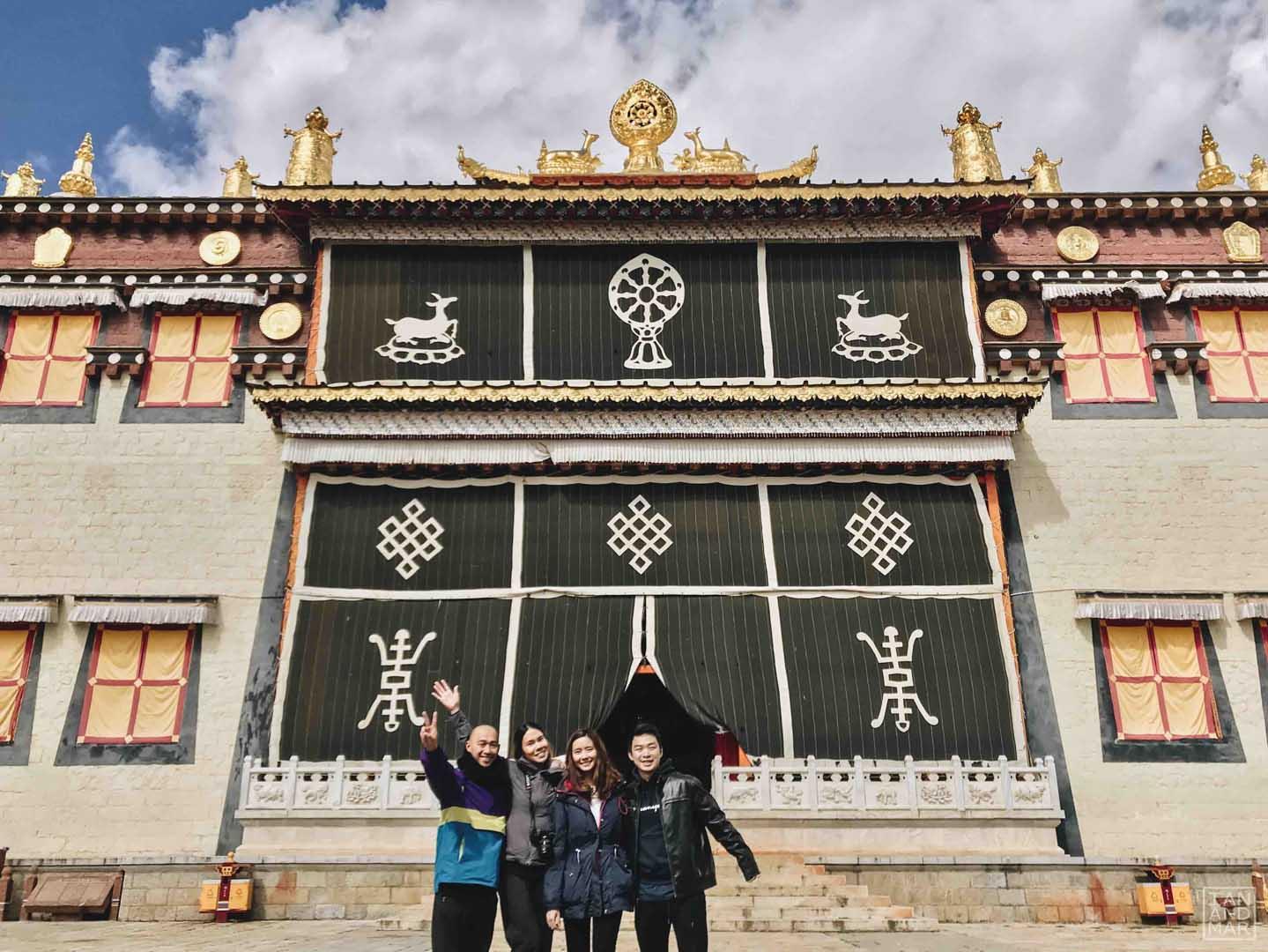 songzanlin monastery with black flag